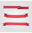 Set Red Banners fot Advertisement vector image