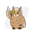 wise old owl vector image