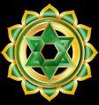 hindu chakra anahata medallion vector image