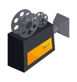 Old movie camera with reel icon cartoon style vector image