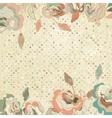 Vintage Roses Floral Background vector image vector image