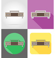 furniture flat icons 08 vector image