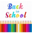 Back to school message on paper vector image