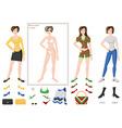 dress woman fashion vector image