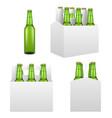 beer bottle mockup set realistic vector image