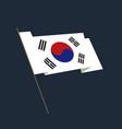 flat style waving republic of korea flag vector image