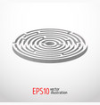 labyrinth abstract 3d vector image