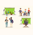 Movie making 2x2 concept vector image