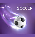 soccer football tournament poster vector image