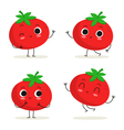 Tomato Cute vegetable character set isolated on vector image