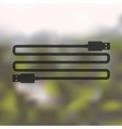 usb icon on blurred background vector image