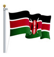 waving kenya flag isolated on a white background vector image