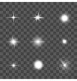 Glowing Light Effect Set vector image