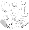 Office stuff icons set vector image vector image