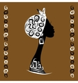 Female head silhouette for your design ethnic vector image