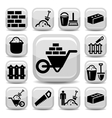 bricklayer icons vector image vector image