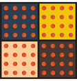 Seamless patterns with basketball balls vector image vector image