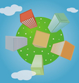 Planet with houses vector image