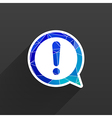 Exclamation mark icon button glossy circle vector image
