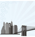 city building silhouette vector image vector image