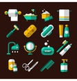 Hygienic and Bathroom Icons Set vector image