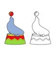 Circus Seal vector image vector image