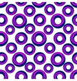 A pattern of blue and pink rings vector image