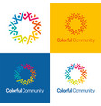colorful community icon and logo vector image