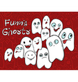 Company amusing ghosts with different emotions vector image