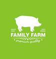 emblem of a family farm with premium fresh pork vector image