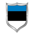 Estonia flag button vector image