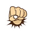 fist hand cartoon vector image