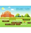 Flat farm in village set sprites and tile sets vector image