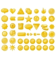 Golden web objects vector image