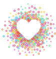 heart - paper color abstract vector image