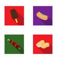 ice cream hot dog nugget shashlyk fast food vector image