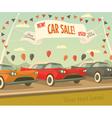 Retro car sale vector image