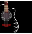 background with acoustic guitar vector image