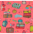 Vintage Hand drawn Suitcases Background vector image