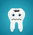 Live tooth with a hole going through vector image vector image