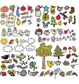sketched icons vector image vector image