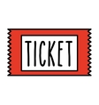 ticket cinema isolated icon design vector image