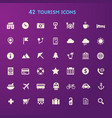 big travel tourism and weather icon set vector image