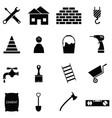 builder icon set vector image