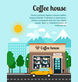 coffee house advertising banner vector image