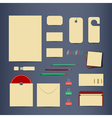 Corporate identity template set vector image