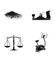 equipment justice nature and other web icon in vector image