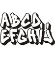 Graffiti font part 1 vector image
