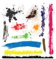 grunge brush design elements vector image