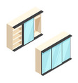 isometric built-in wardrobe vector image